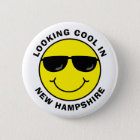 Smiley Looking Cool in Your State Pinback Button