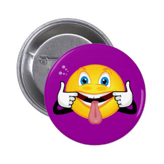 Smiley Making Face Pinback Button