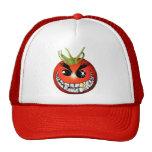 Smiley malvado del tomate gorra
