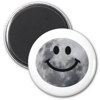 Smiley Moon 2 Inch Round Magnet