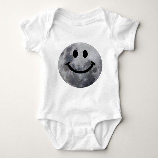 Smiley Moon Baby Bodysuit