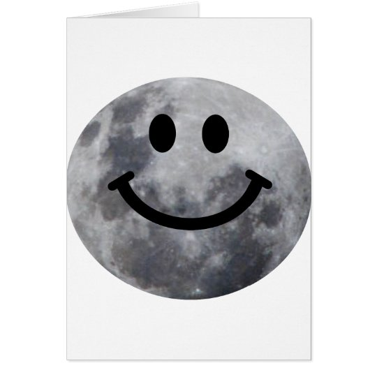 Smiley Moon Card