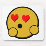 Smiley Mousepad del amor Alfombrilla De Raton