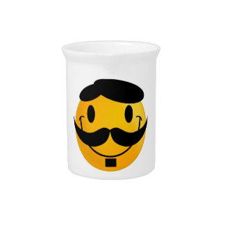Smiley Moustache Beverage Pitchers