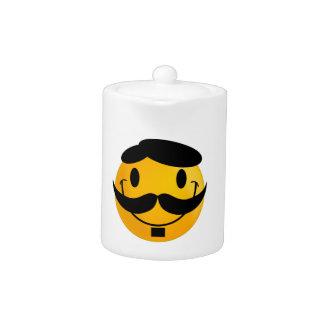 Smiley Moustache Teapot