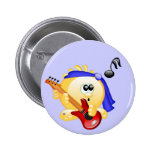 Smiley Music Guitar Player Pins
