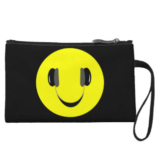 Smiley music lover wristlet