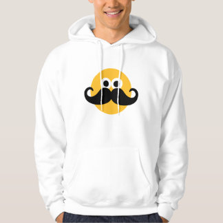 Smiley Mustache face Hoodie