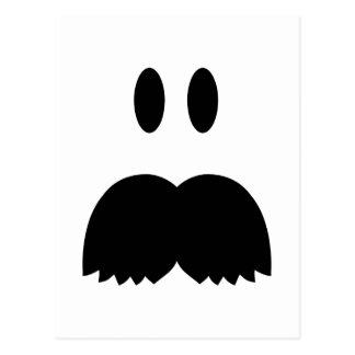 Smiley Mustache face Post Card
