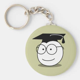 Smiley Nerd Keychain