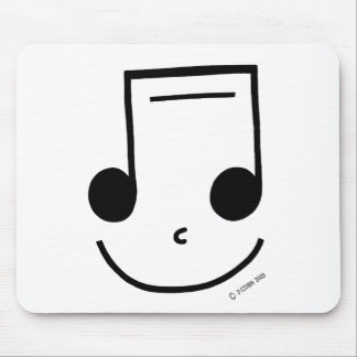 Smiley Notes Mouse Pad