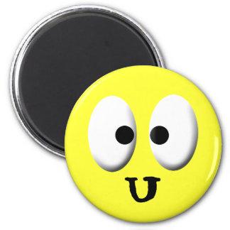 Smiley: Ojos 3, sonriendo Imán Redondo 5 Cm