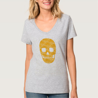 Smiley Orange Skull - Funny Halloween Tee Women