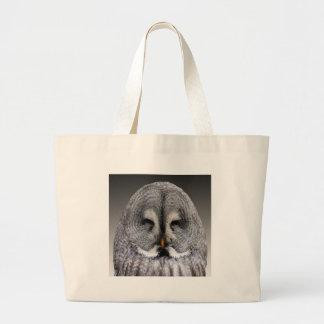 Smiley Owl Large Tote Bag