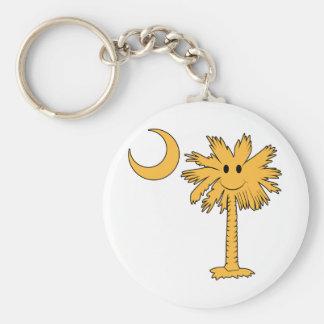 Smiley Palmetto Basic Round Button Keychain