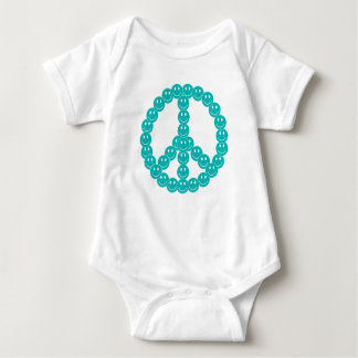 Smiley Peace Baby Bodysuit