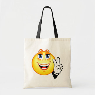 Smiley Peace Tote Bag