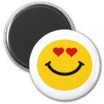 Smiley pegado amor imán de frigorifico
