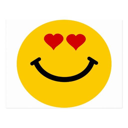 Smiley pegado amor postal