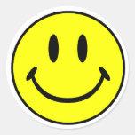 Smiley Pegatina Redonda
