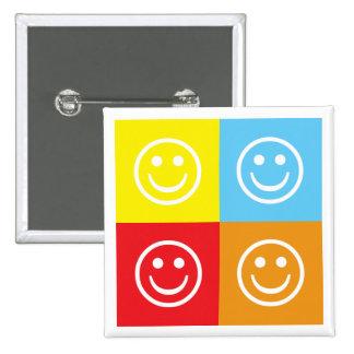Smiley Pin Cuadrada 5 Cm