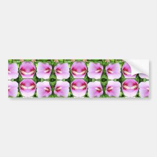SMILEY Pink Lilly Lily Flowers TEMPLATE Resellers Car Bumper Sticker