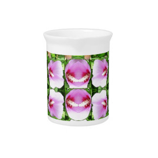 SMILEY Pink Lilly Lily Flowers TEMPLATE Resellers Drink Pitcher