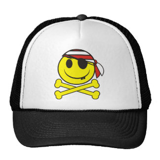 Smiley Pirate 02 Hat
