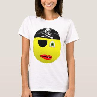 Smiley Pirate Ladies Tee Shirt