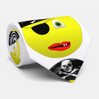 Smiley Pirate Neck Tie