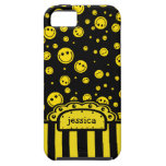 Smiley PolkaDot Name Template iPhone 5/5S Cover