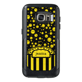 Smiley PolkaDot Name Template OtterBox Samsung Galaxy S7 Case