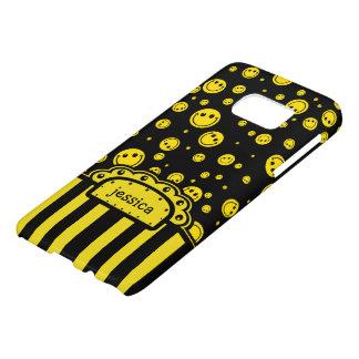 Smiley PolkaDot Name Template Samsung Galaxy S7 Case
