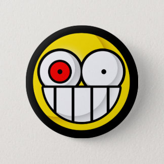 Smiley Psychotic Button