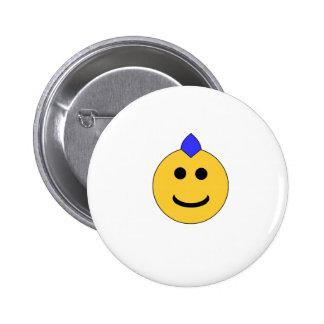 Smiley punky pin redondo de 2 pulgadas