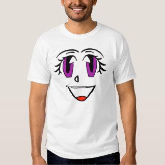 Smiley púrpura de la cara remera