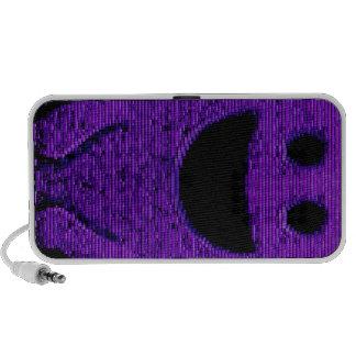 Smiley púrpura del bloque mini altavoz
