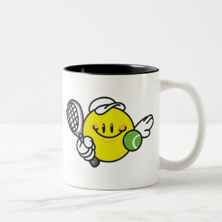 Smiley Racquetball Two-Tone Coffee Mug