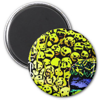 Smiley Rejects River 2 Inch Round Magnet