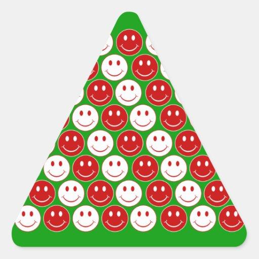 Smiley retro colcomanias triangulo