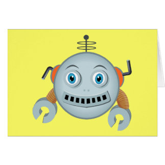 Smiley Robot Greeting Card