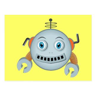 Smiley Robot Postcard
