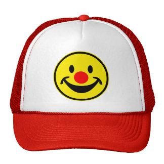 Smiley rojo de la nariz - amarillo + sus ideas gorros bordados