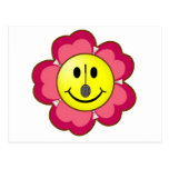 Smiley rojo del bádminton de la flor postal