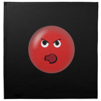 Smiley rojo enojado servilleta