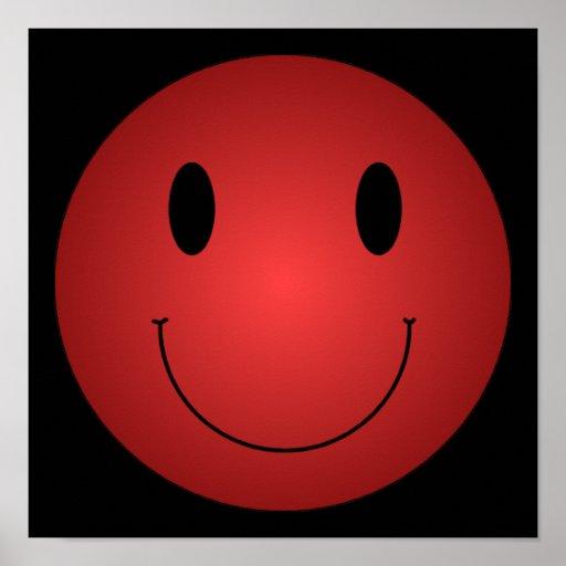 Smiley rojo impresiones