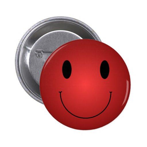 Smiley rojo pins