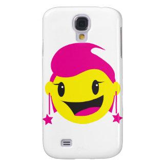 SMILEY rosado LINDO del chica Funda Para Galaxy S4