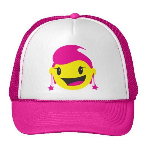 SMILEY rosado LINDO del chica Gorros
