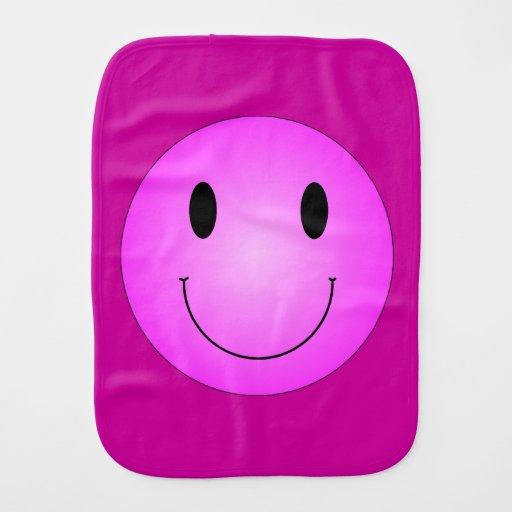Smiley rosado paños para bebé